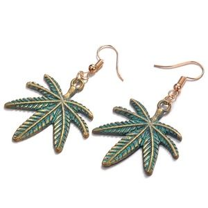 HEMP LEAF EARRINGS Pot Leaf Earrings Drop Earrings